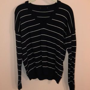 Black and white striped brandy Melville sweater